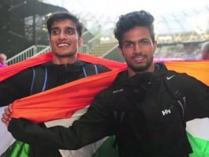 Sharad Kumar and Varun Bhati winning a silver and bronze at world Para Athletic Championship