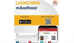 UIDAI launches 'mAadhaar' app