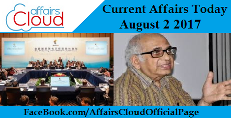 Current Affairs August 2 2017