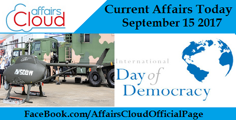 Current Affairs Today September 15 2017