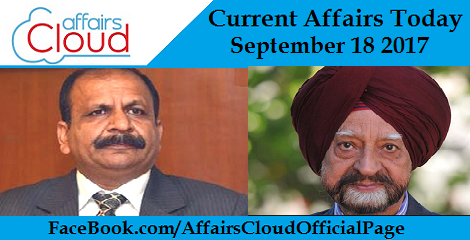 Current Affairs Today September 18 2017
