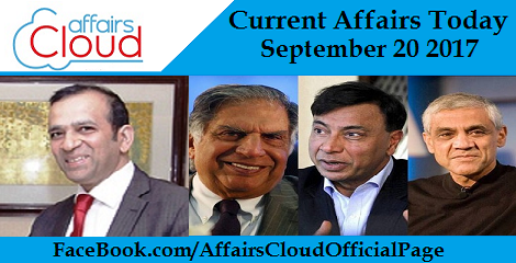 Current Affairs Today September 20 2017