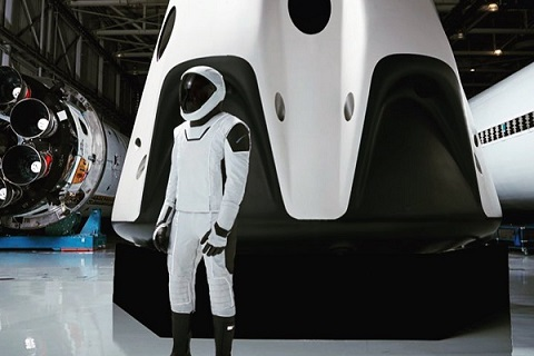 Elon Musk shows off SpaceX first full body spacesuit