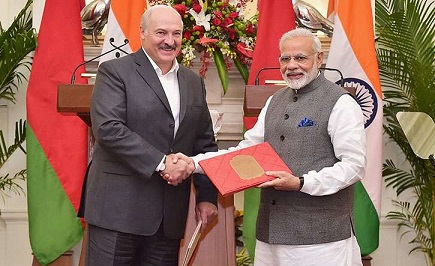 India, Belarus sign 10 pacts to expand cooperation 2017
