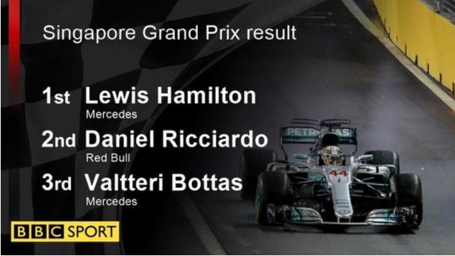 Lewis Hamilton wins Singapore Grand Prix