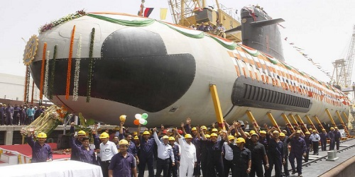Mazagon Dock Ltd delivered 1st Scorpene-class submarine INS Kalvari to Indian Navy