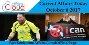 Current Affairs Today - October 6 2017
