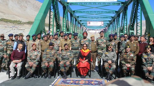 Defence Minister inaugurates Pratham-Shyok Bridge in Leh