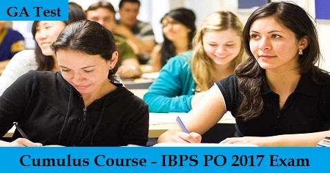 IBPS PO 2017 Exam - GA Test