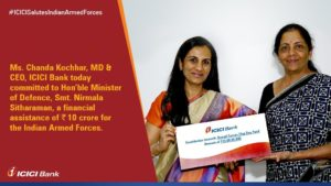 ICICI Bank commits Rs 10 cr for welfare of armed forces