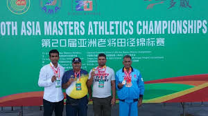 India bag 37 gold medals, finish second in 20th Asia Masters meet