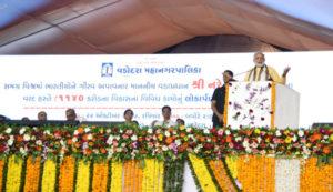 PM launches development initiatives in Vadodara
