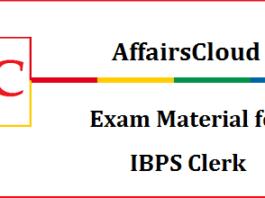 AffairsCloud Exam material for IBPS Clerk