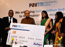 Finance Minister Arun Jaitley launches Paytm Payments Bank