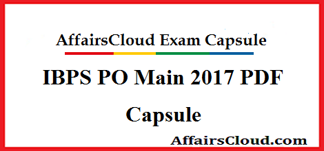 IBPS PO 2017 PDF Capsule