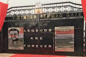 Virender Sehwag Gate inaugurated at Feroz Shah Kotla