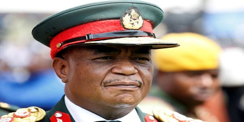 Army chief General Constantino Chiwenga arrives to attend the inauguration ceremony to swear in Zimbabwe's former vice president Emmerson Mnangagwa as president in Harare