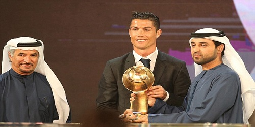 Cristiano Ronaldo wins best player at Globe Soccer Award