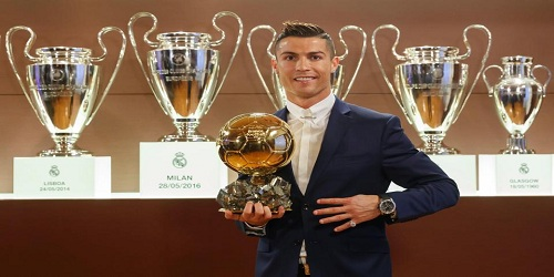 Cristiano Ronaldo wins fifth Ballon d'Or Award
