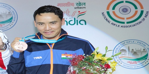 Jitu Rai wins Men's 50m pistol title at the 61st National Shooting Championship