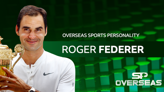 Roger Federer named BBC overseas sports personality of the year 2017