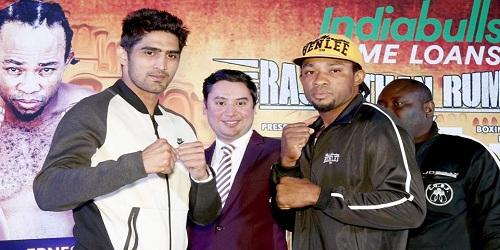 Vijender Singh beats Ernest Amuzu, retains his WBO Oriental and Asia Pacific super middleweight titles