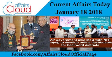 Current Affairs Today Jan 18 2018