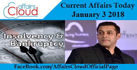 Current Affairs Today - January 3 2018