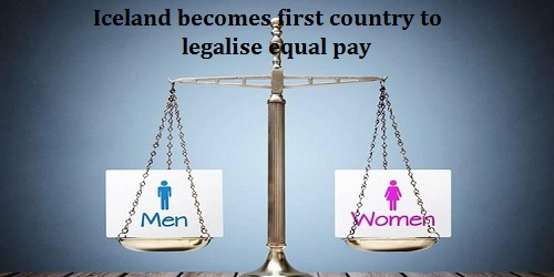 Iceland becomes first country to legalise equal pay