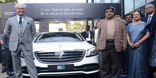 Mercedes unveils India's first, locally made BS-VI car