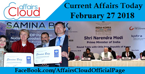 Current Affairs Today - February 27 2018