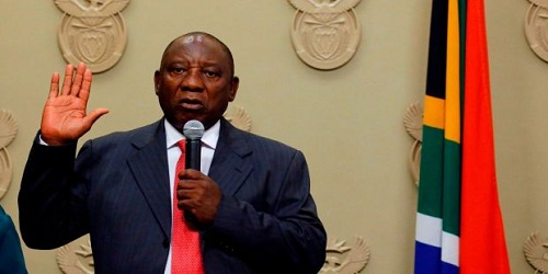 Cyril Ramaphosa sworn in as new President of South Africa