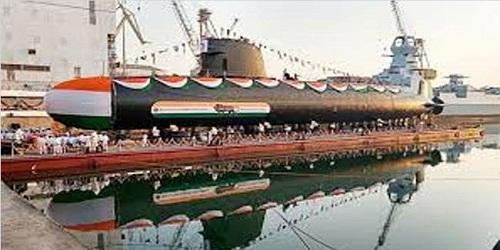 Indian Navy launches 3rd Scorpene class submarine Karanj in Mumbai