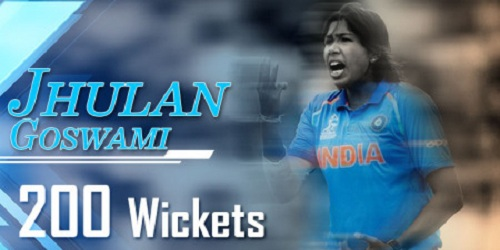Jhulan Goswami 1st woman in the world to take 200 ODI wickets