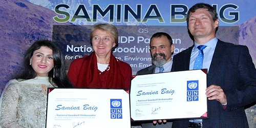 Mountaineer Samina Baig appointed as UNDP National Goodwill Ambassador for Pakistan
