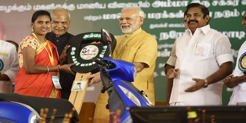 PM Modi Launches Amma 2 Wheeler Scheme in Tamil Nadu