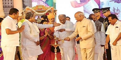 President inaugurates 88th Mahamastakabhisheka at Shravanabelagola