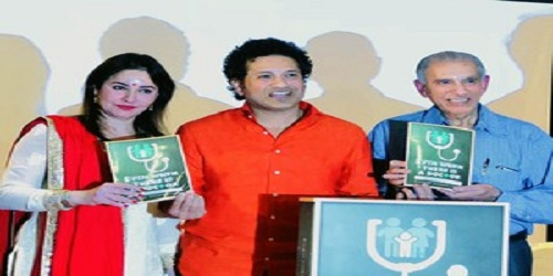 Sachin Tendulkar and his wife launch 'Even When There Is A Doctor' book