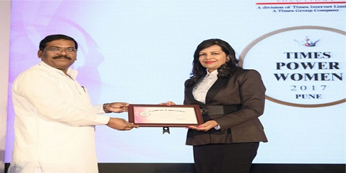 Shabnam Asthana wins Times Power Woman 2017 award
