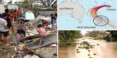 Tropical Cyclone Gita blasts tiny South Pacific island nation of Tonga