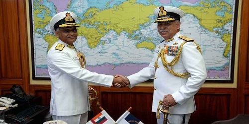 Vice-Admiral R B Pandit takes over as Commandant of INA