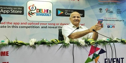 Delhi govt launches app 'Delhi's Date with Democracy' to scout singing, dancing talent
