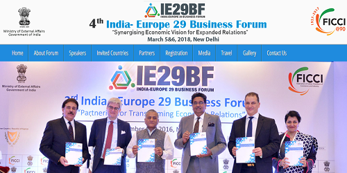 Fourth India-Europe 29 Business Forum held in New Delhi