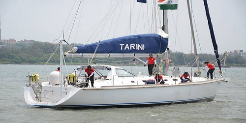 Indian Navy sailboat INSV Tarini arrives in Cape Town, South Africa