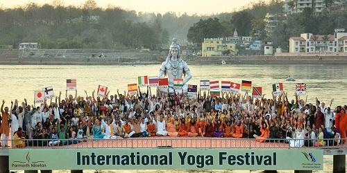 International Yoga festival held in Rishikesh