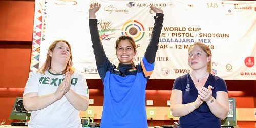 Young 16 year old Manu Bhaker clinched gold, Ravi Kumar bagged bronze in ISSF World Cup