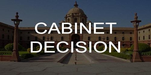 Cabinet Approvals on April 25 2018