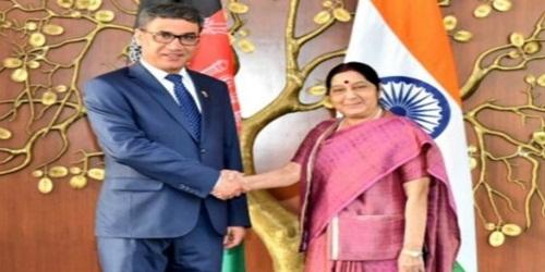 EAM Sushma Swaraj meets Afghan Defence Minister