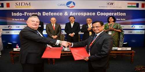 Signature of MoU between the GIFAS (France) and the SIDM (India)