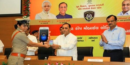 Gujarat CM launches Pocket Cop project; cops to get smartphones to curb crime